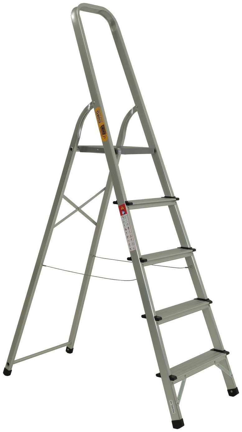 Rhino 5 Tread High Handrail Step Ladder