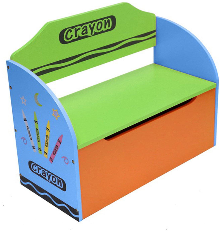 Kiddi Style Blue Crayon Toy Box & Bench