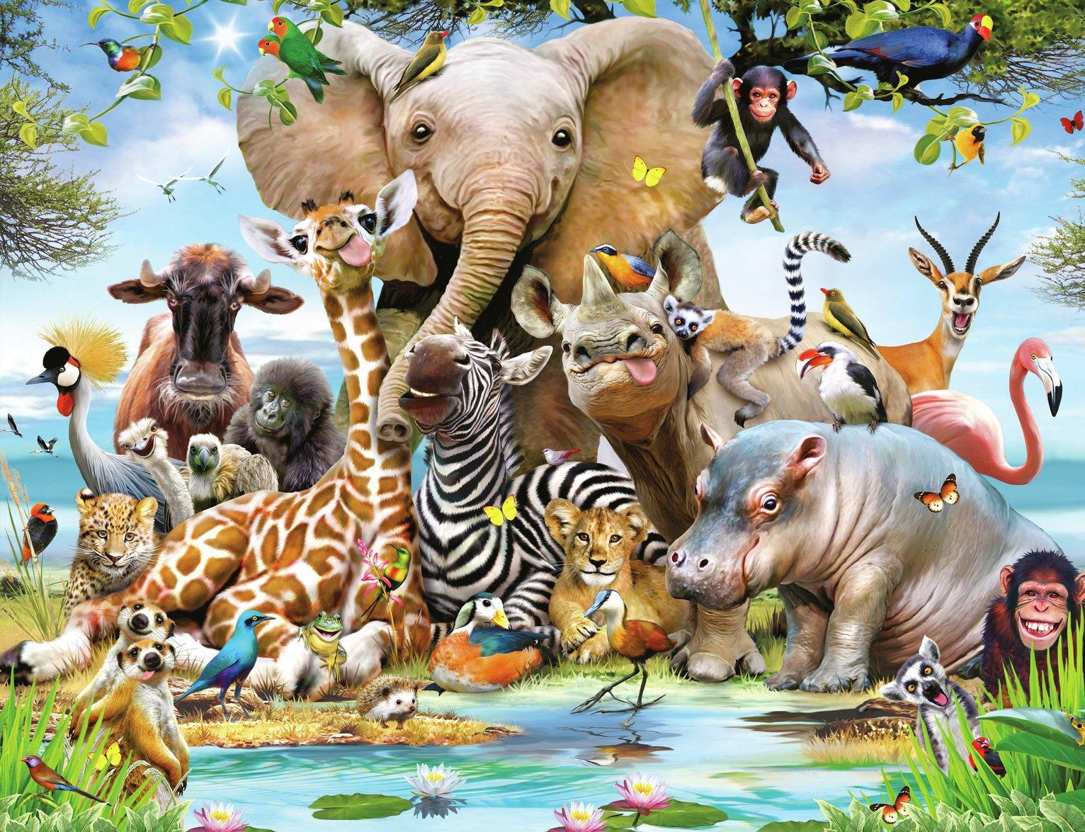 Walltastic Jungle Safari Wall Mural