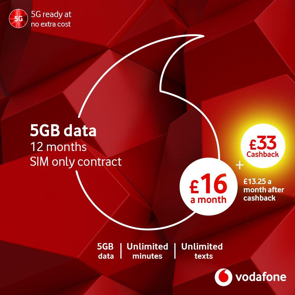 Vodafone 12 Month 5GB Data 5G SIM Card