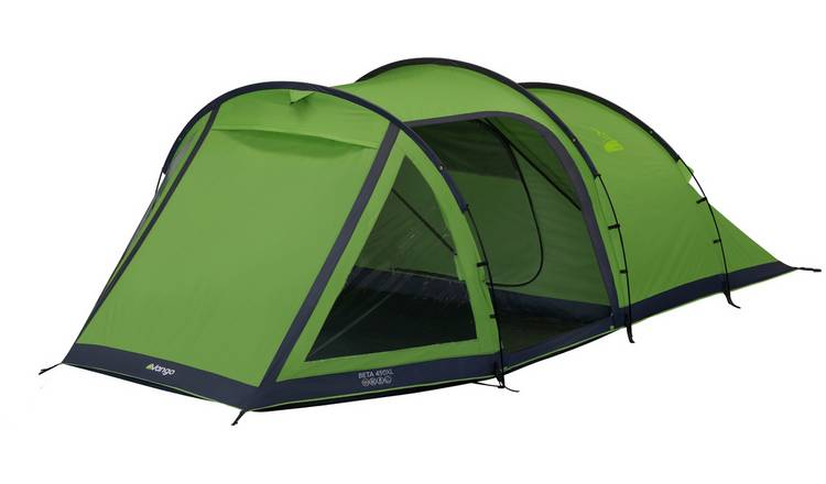 Vango Beta 4 Man 1 Room Tunnel Camping Tent with Porch