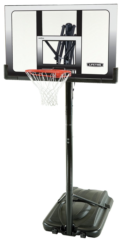 Lifetime Adjustable 52 Inch Portable Basketball Hoop