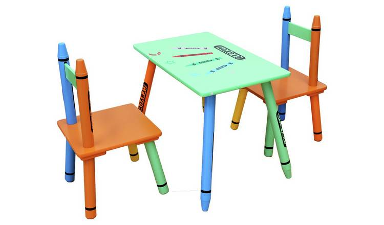 Magnificent Buy Kiddi Style Green Crayon Table Chair Kids Tables And Chairs Argos Ocoug Best Dining Table And Chair Ideas Images Ocougorg