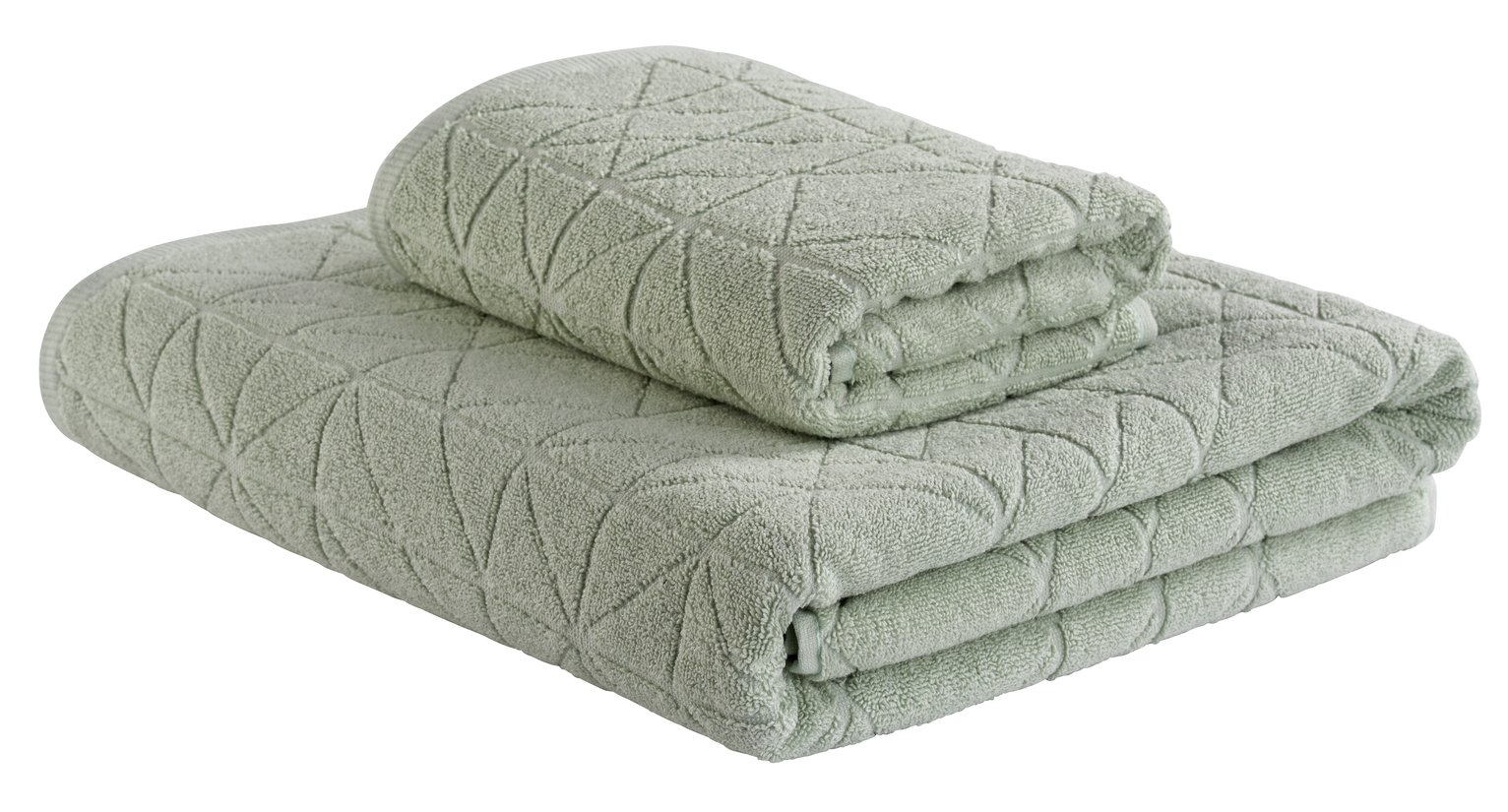 Argos Home Textured 2 Piece Towel Bale - Seafoam