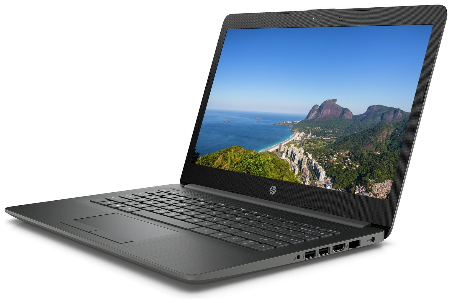 HP 14 Inch Pentium 4GB 128GB Full HD Laptop - Grey
