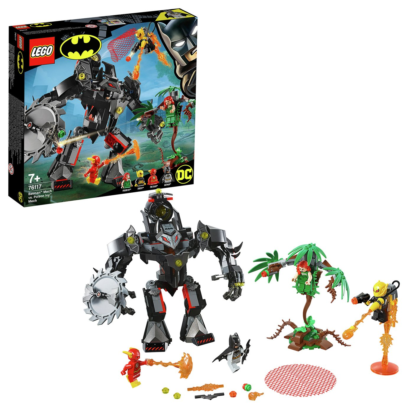 LEGO Superhero Batman vs Mech Plus Action Figure Set - 76117