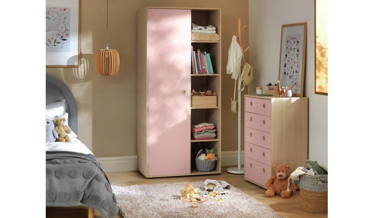 Buy Argos Home Camden 3 Piece 1 Door Wardrobe Set Pink Acacia Kids Bedroom Furniture Sets Argos