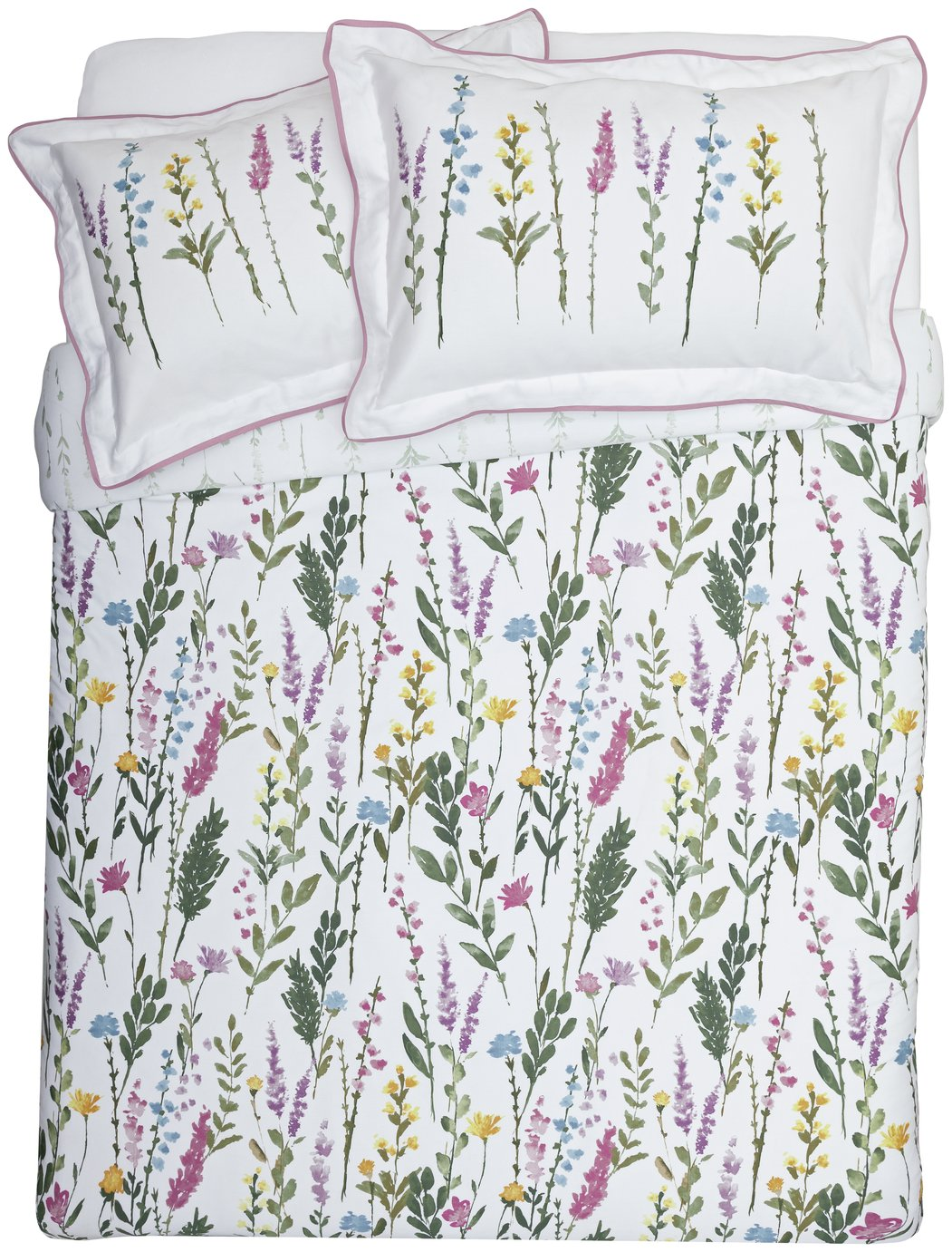Argos Home Botanical Floral Bedding Set - Kingsize