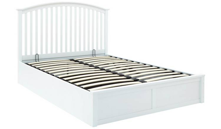 5fd91f22bdcc Buy GFW Madrid White Ottoman Double Bed Frame | Bed frames | Argos
