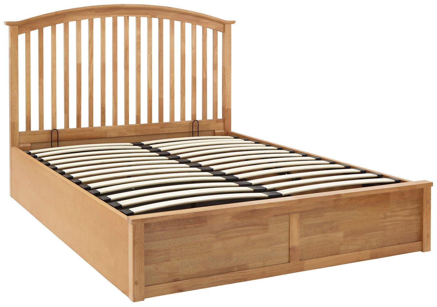 GFW Madrid Oak Effect Ottoman Kingsize Bed Frame