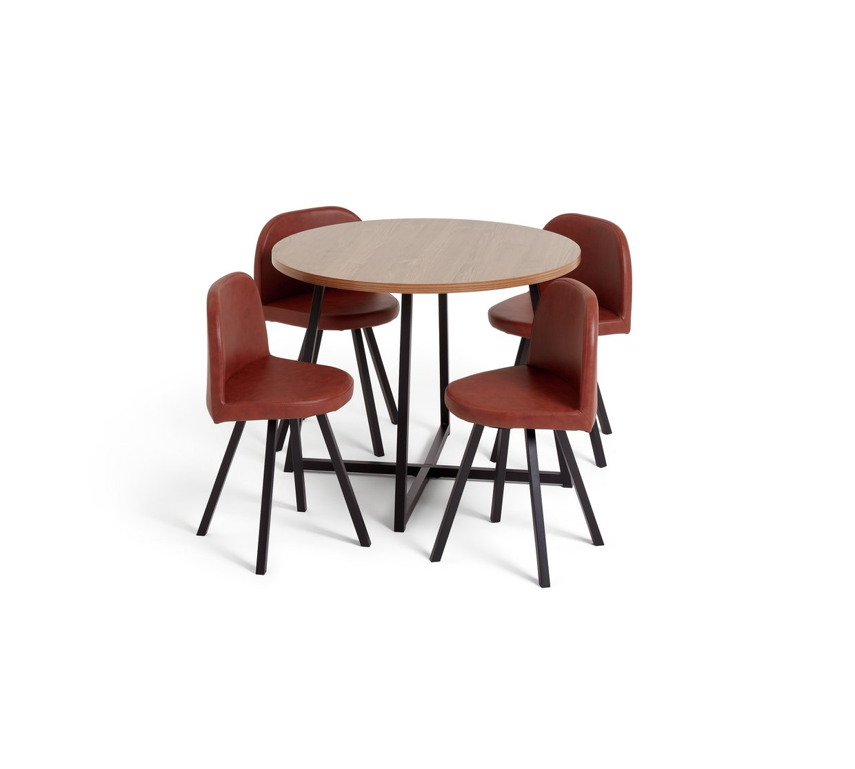 269e707edd662 Argos Home Nomad Space Saving Dining Table and 4 Chairs