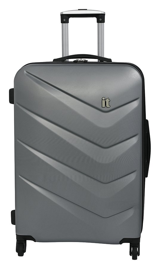 it Luggage Medium Expandable 4 Wheel Hard Suitcase - Silver