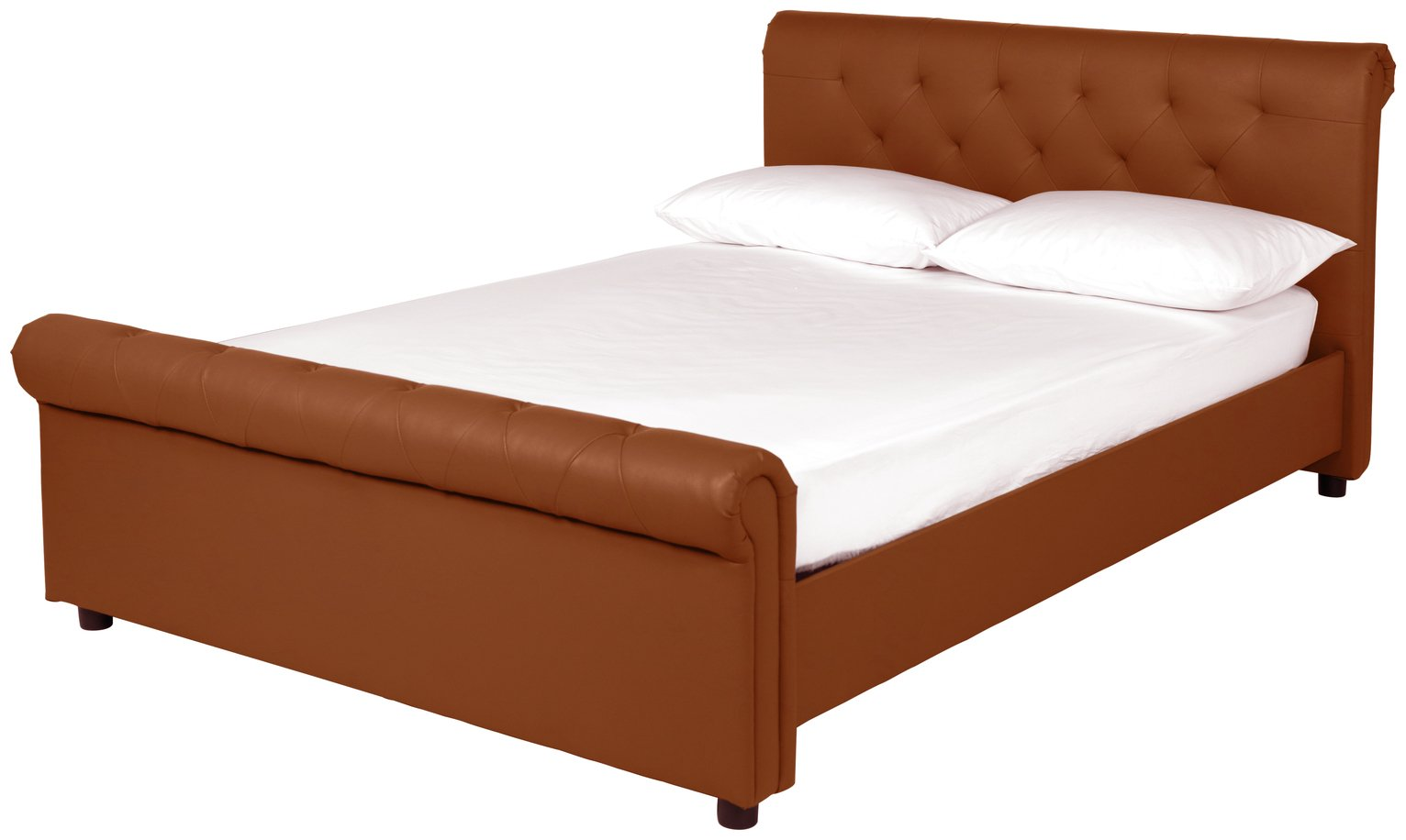 Argos Home Hayford Tan Kingsize Bed Frame