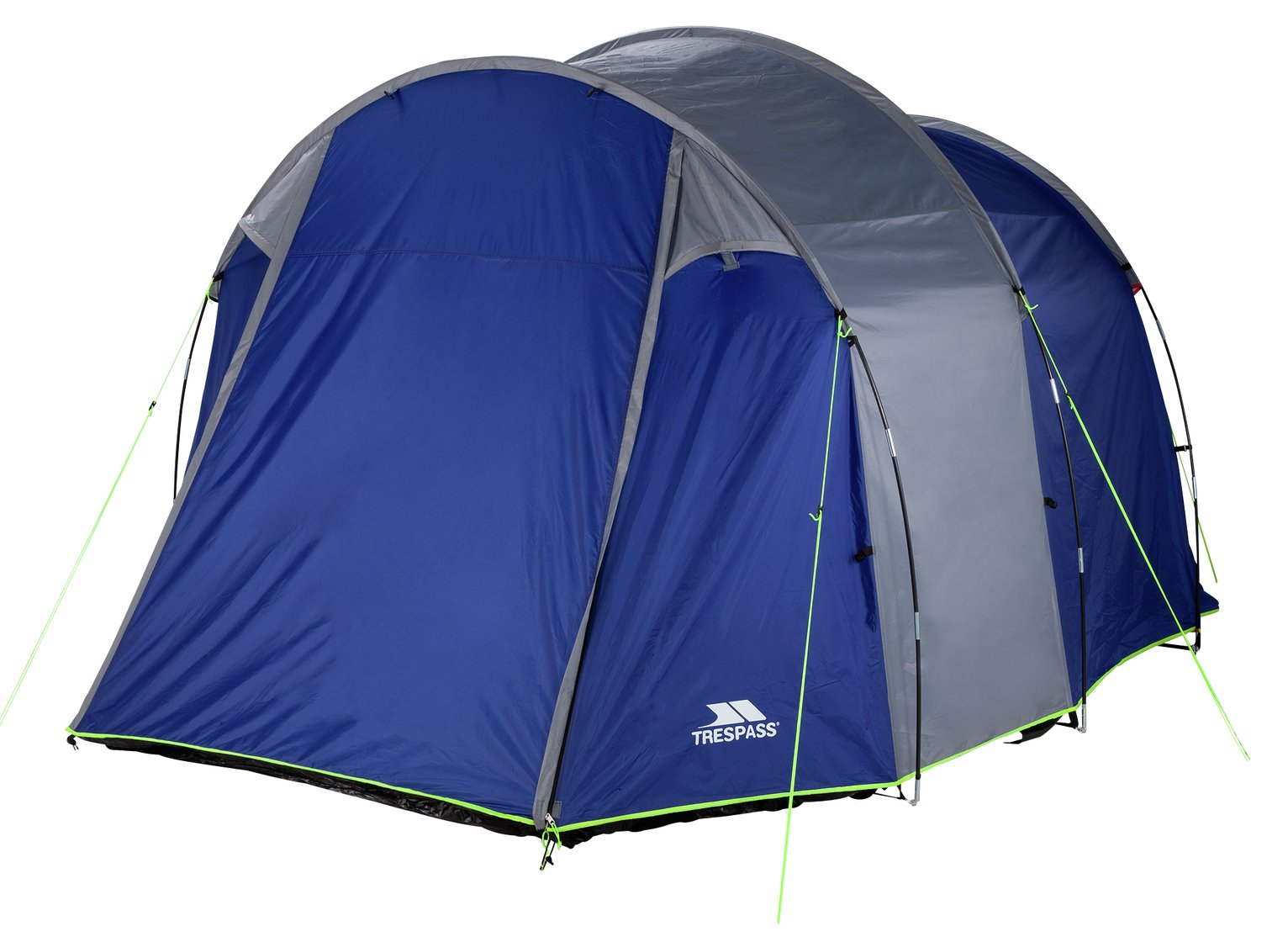 Trespass 4 Man Blue Tunnel Tent