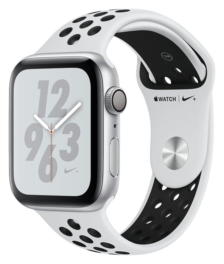 Apple Watch Nike S4 44mm Silver Alu Case / Black Nike Band