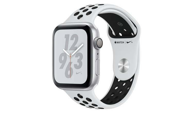 Buy Apple Watch Nike S4 44mm Silver Alu Case / Black Nike Band | Fitness  and activity trackers | Argos