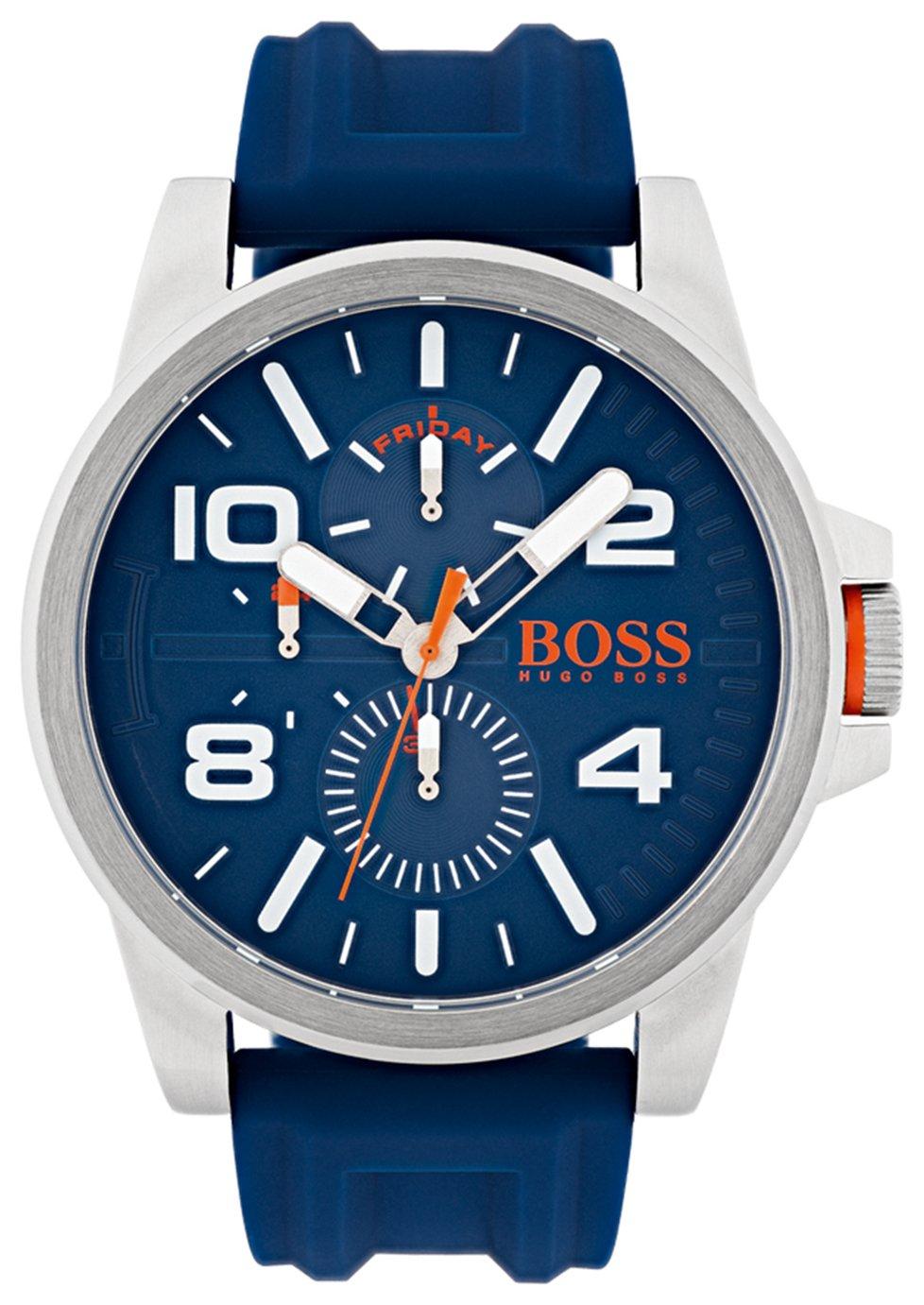 Boss Orange Blue Silicone Strap Watch