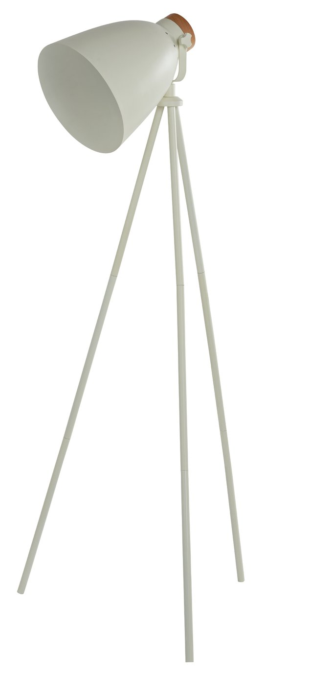 Argos Home Stockholm Cream Tripod Floor Lamp