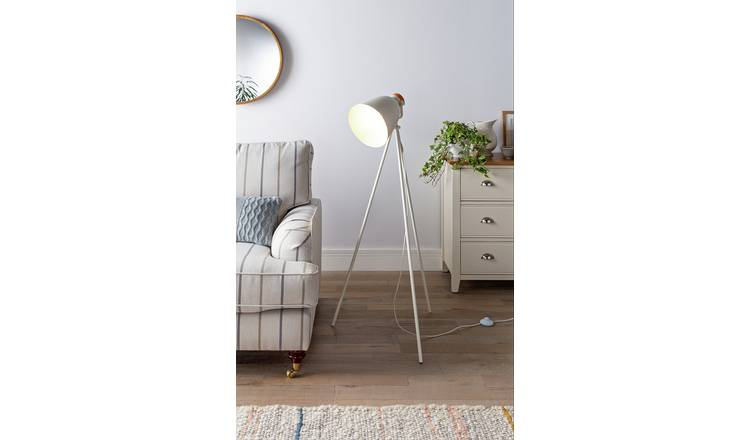 Buy Argos Home Stockholm Cream Tripod Floor Lamp   Floor lamps   Argos