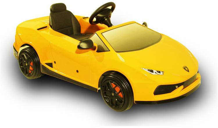 Buy Lamborghini Huracan 12v Electric Yellow Ride On Battery
