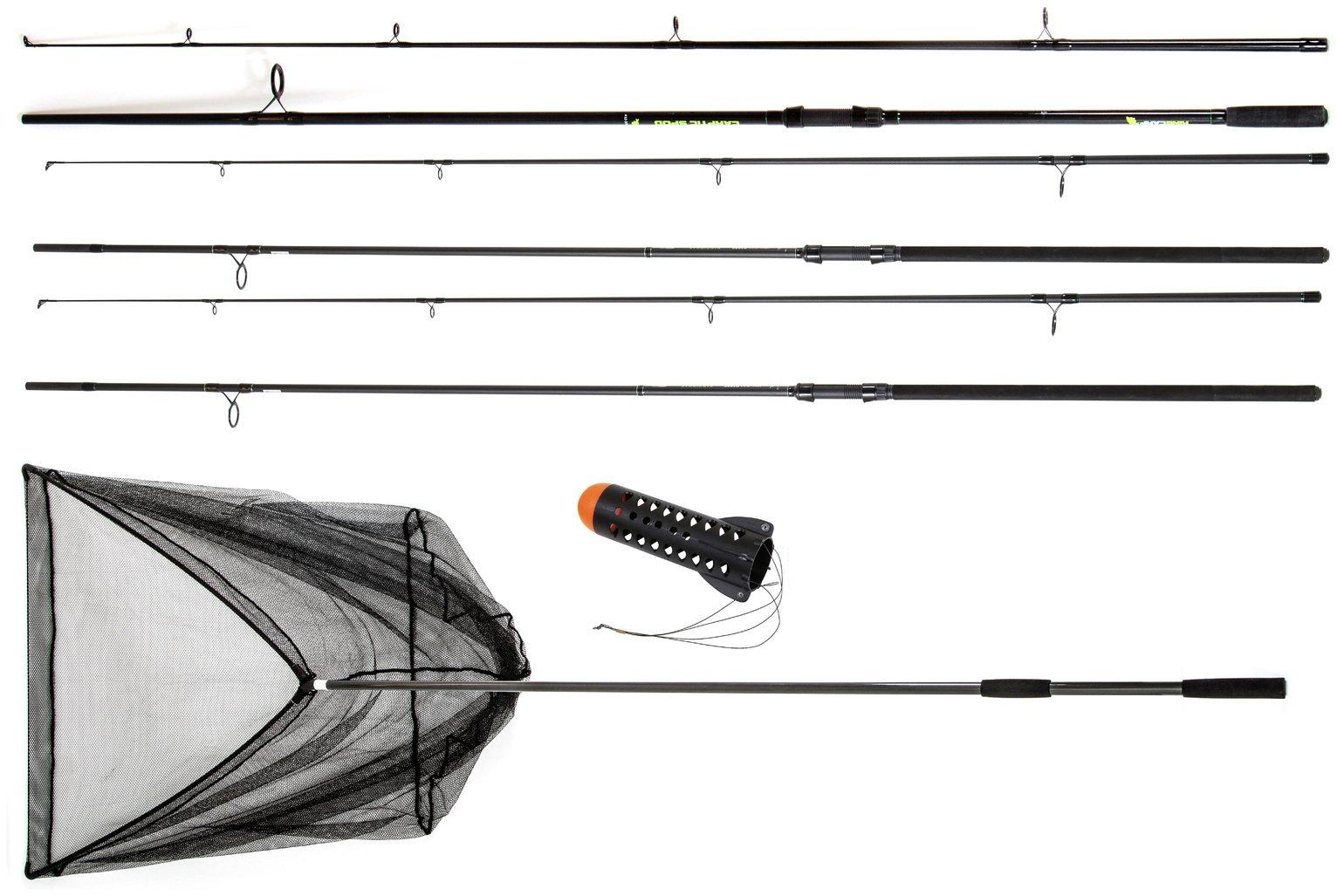 Twin Carp Rod Spod and Landing Net Set