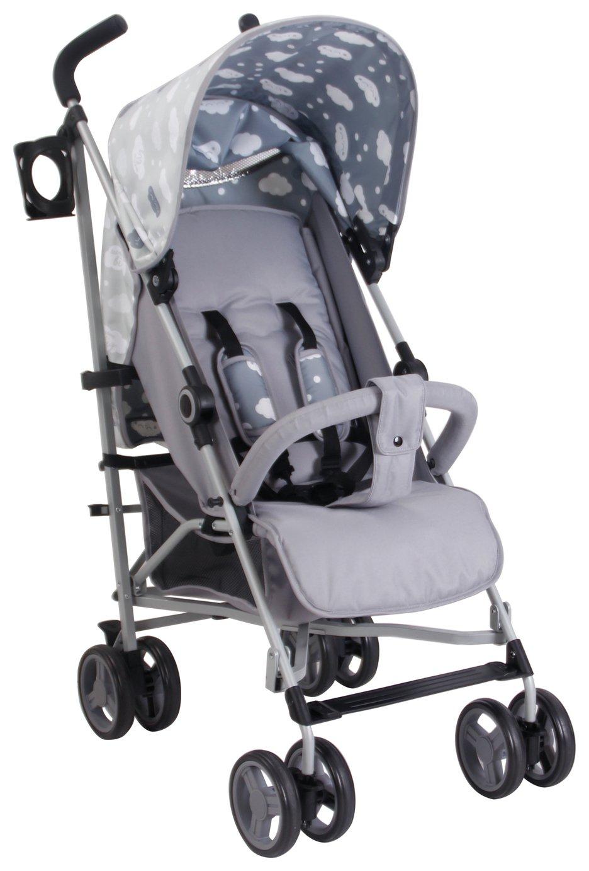 My Babiie Abbey Clancy MB02 Clouds Stroller - Grey