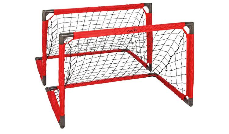 Opti Ball, Pump and 3 x 2ft 1 on 1 Football Goal - Set of 2