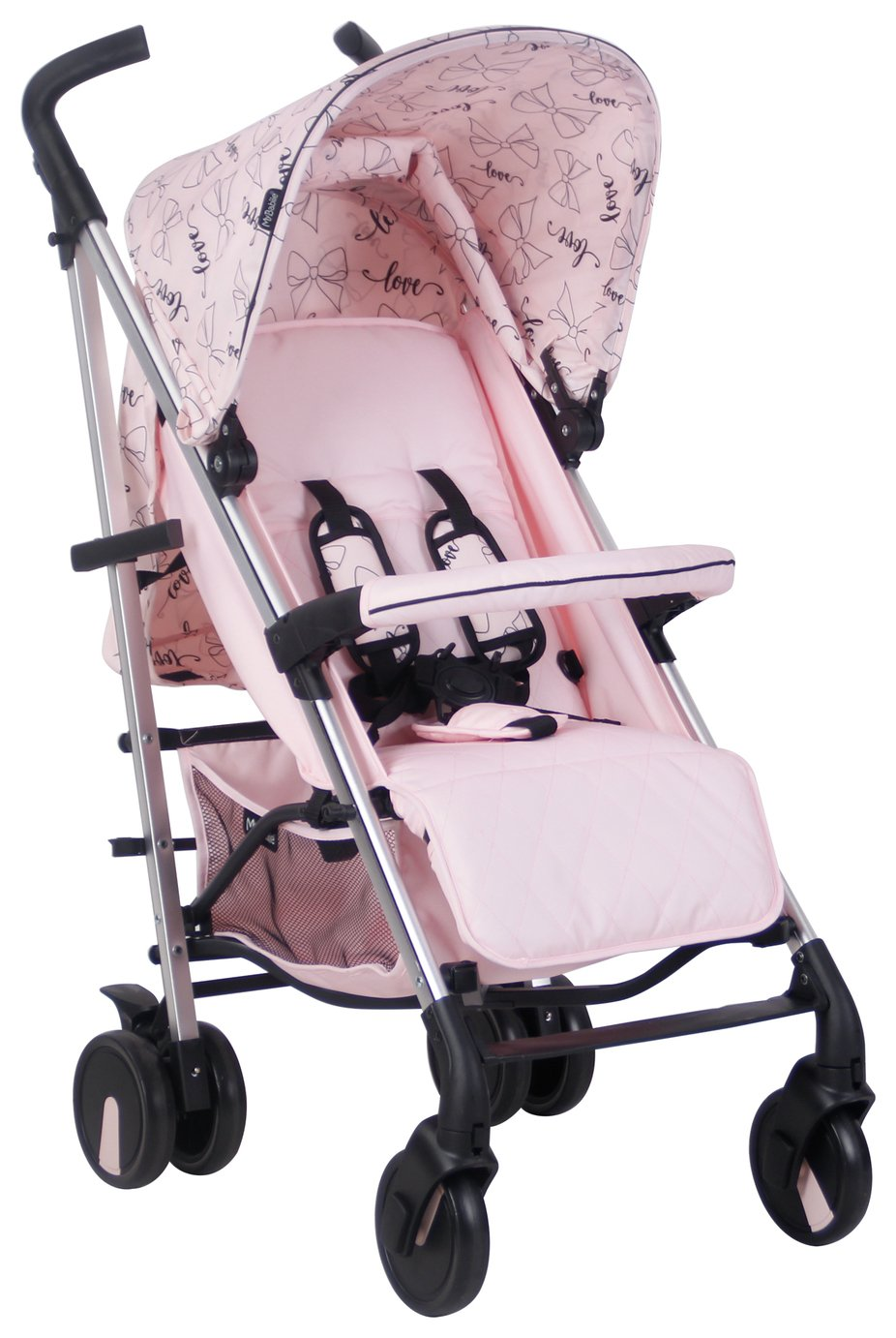 My Babiie Abbey Clancy MB51 Bows Stroller - Pink