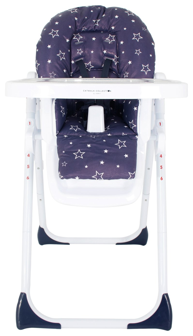 My Babiie Abbey Clancy Navy Stars Highchair