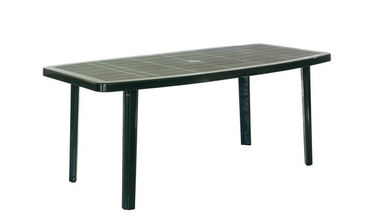 Buy Argos Home Oval 8 Seater Garden Table Green Garden Tables Argos