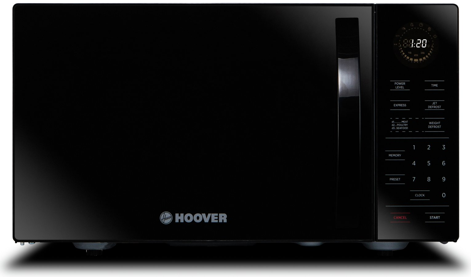 Hoover HMW25STB-UK 25L Freestanding Microwave Oven, Black
