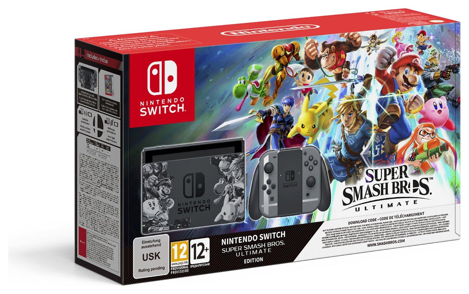 Nintendo Switch & Super Smash Bros Ultimate Bundle Pre-Order