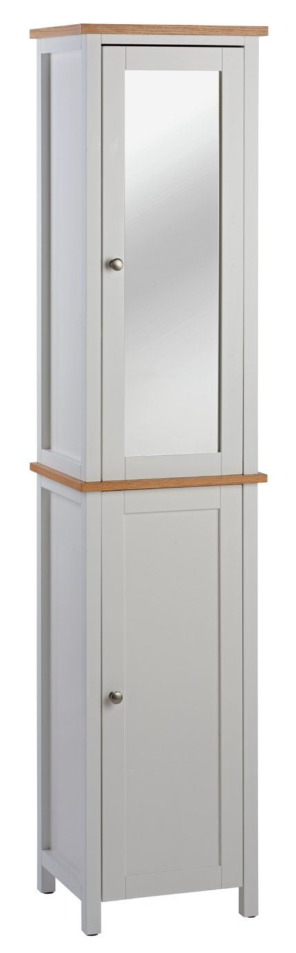 Argos Home Livingston Tall Cabinet - White