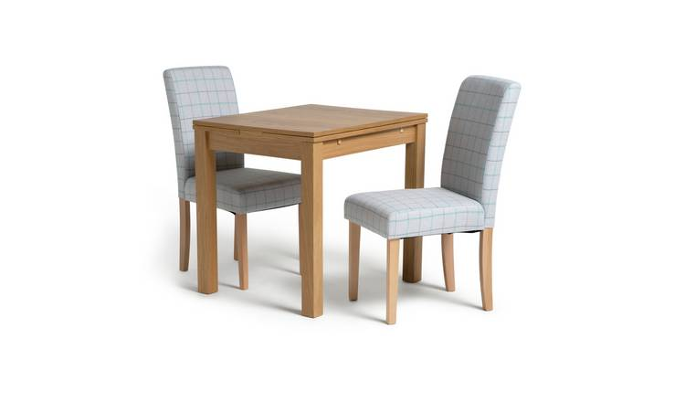 Habitat Clifton Extending Table & 2 Chairs - Light Grey