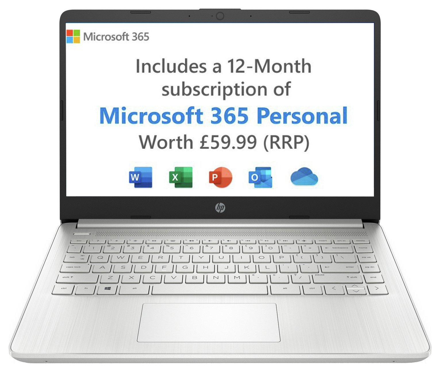 HP 14in AMD 3020e 4GB 128GB FHD Laptop - White