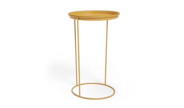 Habitat Finley C Shaped Side Table - Yellow