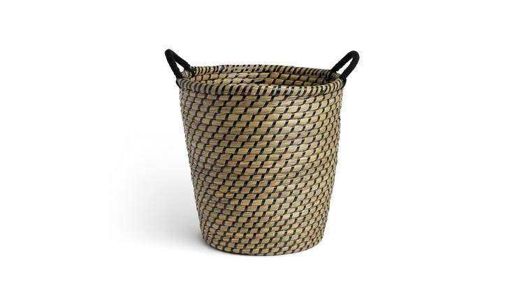 Habitat Eden Wicker Basket - Multicoloured