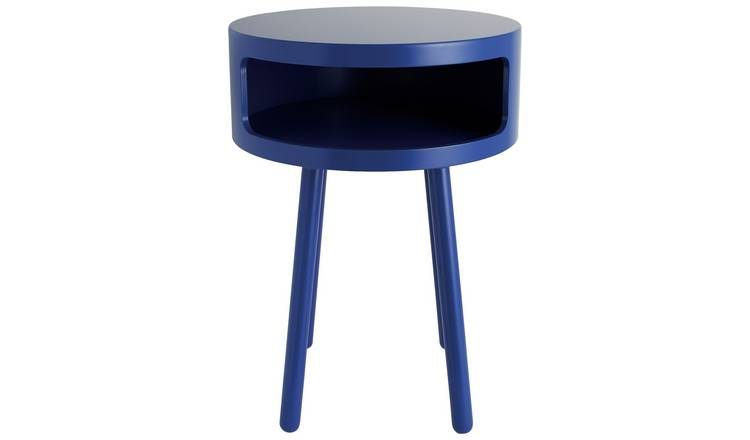 Habitat Bumble Side Table - Cobalt Blue