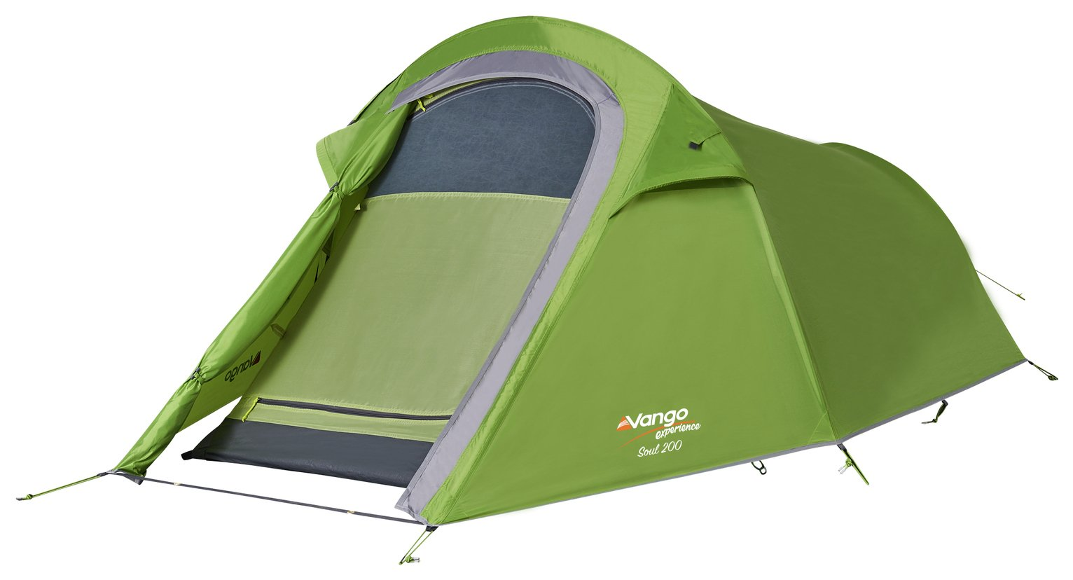 Vango Soul 2 Man 1 Room Quick Pitch Tunnel Camping Tent
