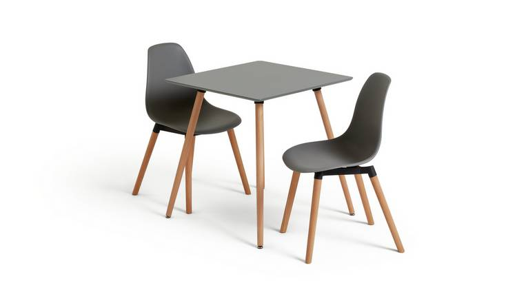 Buy Argos Home Berlin Square Dining Table And 2 Chairs Grey