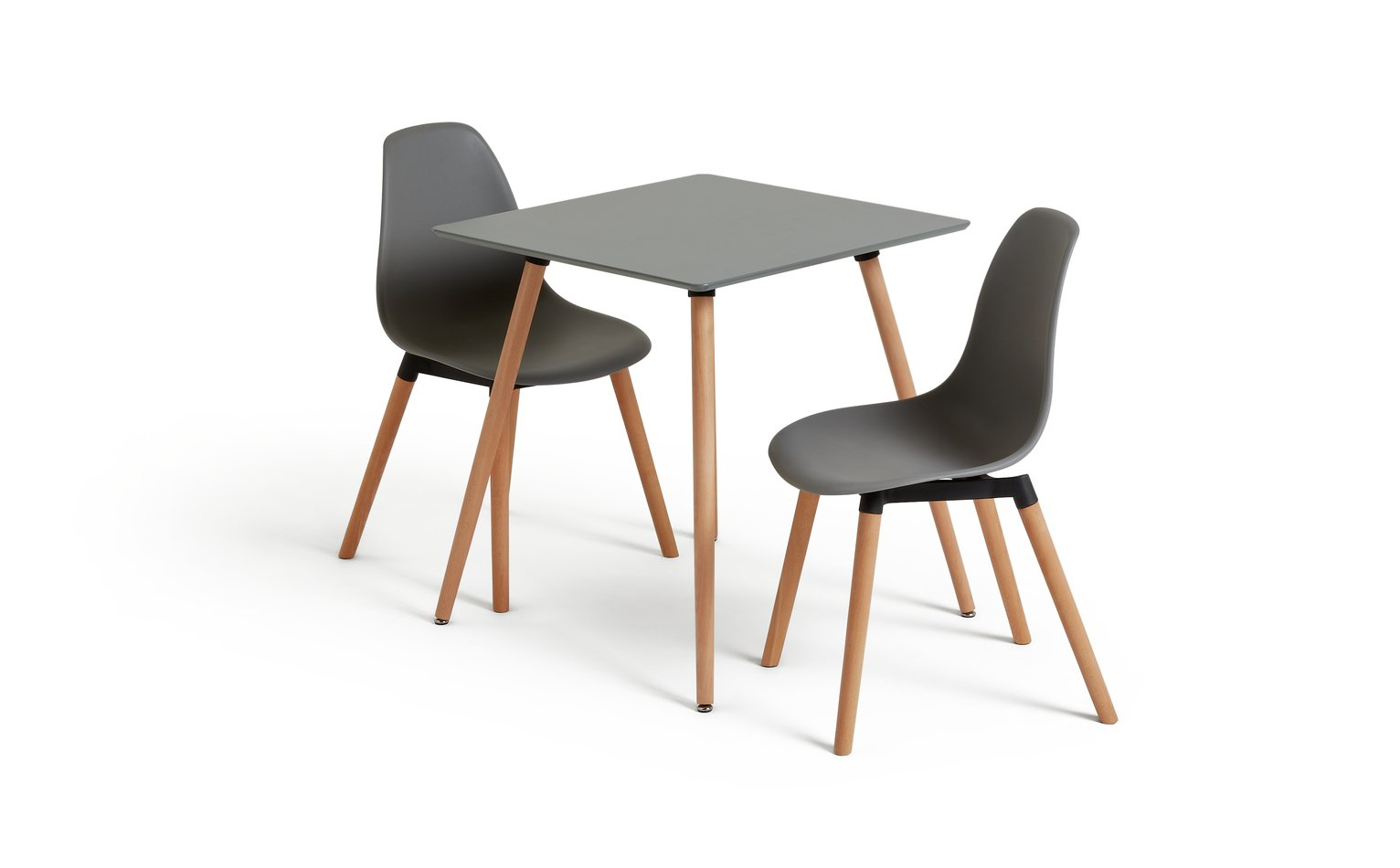 Argos Home Berlin Square Dining Table and 2 Chairs - Grey  sc 1 st  Argos & Buy Argos Home Berlin Square Dining Table and 2 Chairs - Grey ...