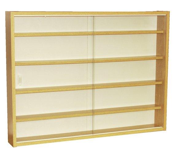 Buy Deco 2 Glass Door Display Cabinet Oak Display Cabinets And