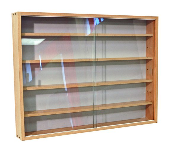 Buy Deco 2 Glass Door Display Cabinet Beech Display Cabinets And