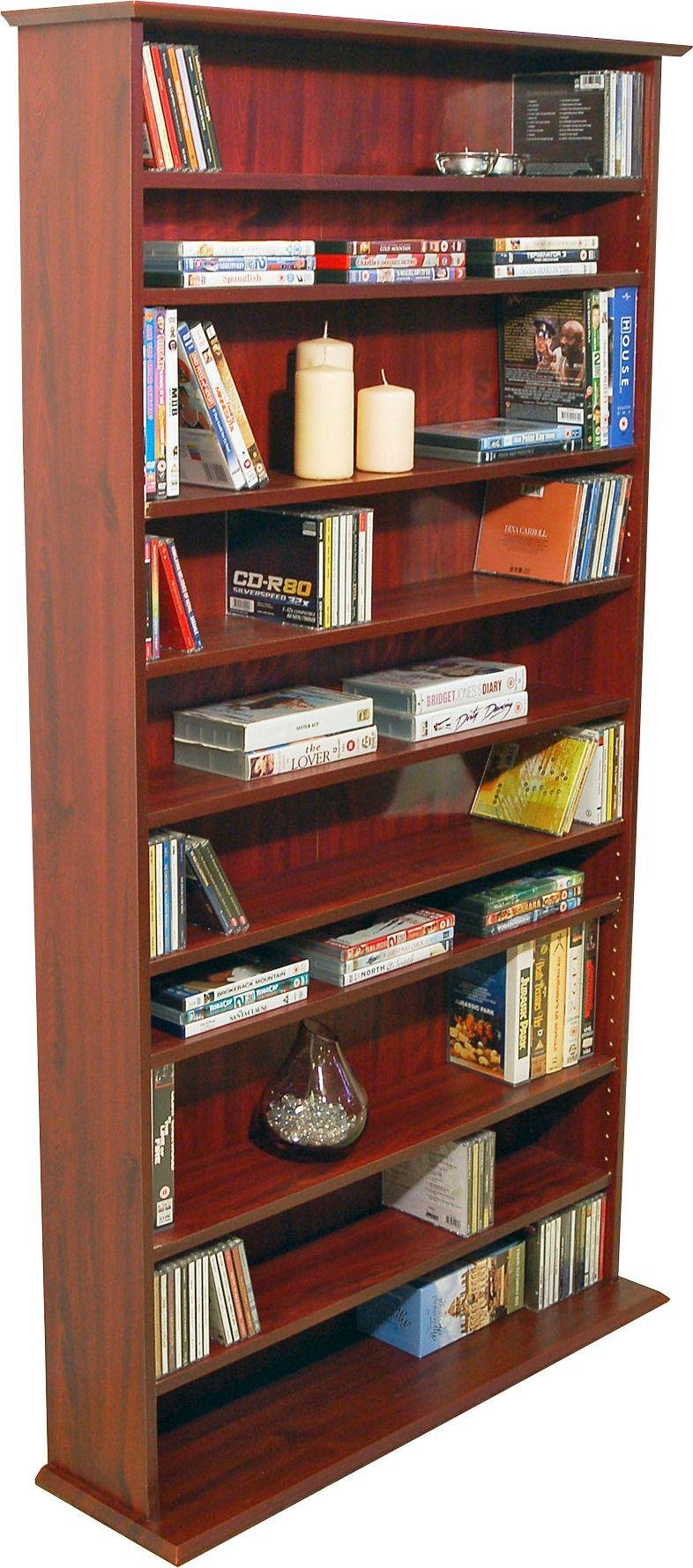 Harrogate Mahogany CD, DVD and Blu-ray Shelving Cabinet.