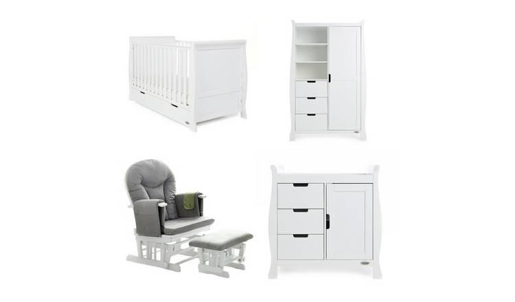 promo code 233c1 d2173 Buy Obaby Stamford Classic 3 Piece Set & Glider Chair - White | Nursery  furniture sets | Argos