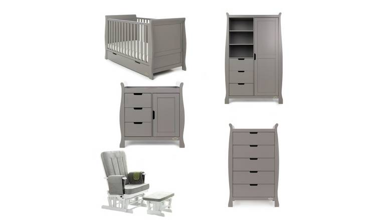 1a527dab3eaa Buy Obaby Stamford Classic Sleigh 5 Piece Room Set - Taupe Grey ...