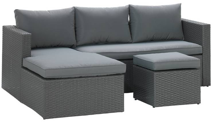 Buy Argos Home Rattan Effect Reversible Mini Corner Sofa Grey Garden Chairs And Sun Loungers Argos