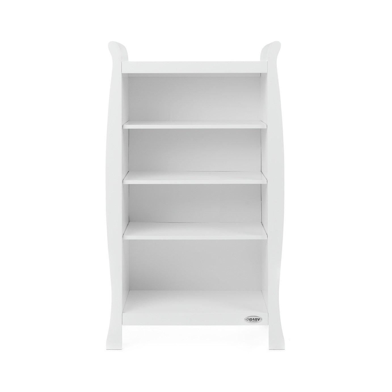Obaby Stamford Sleigh Bookcase - White
