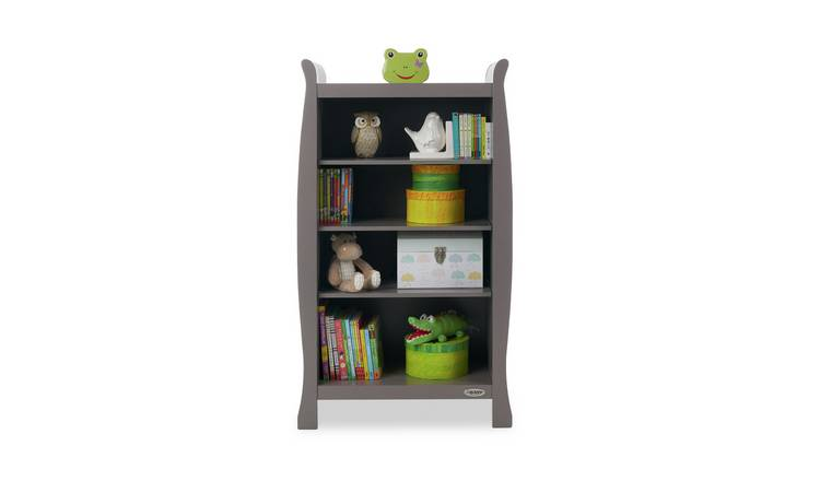 Taupe Grey Obaby Stamford Sleigh Bookcase