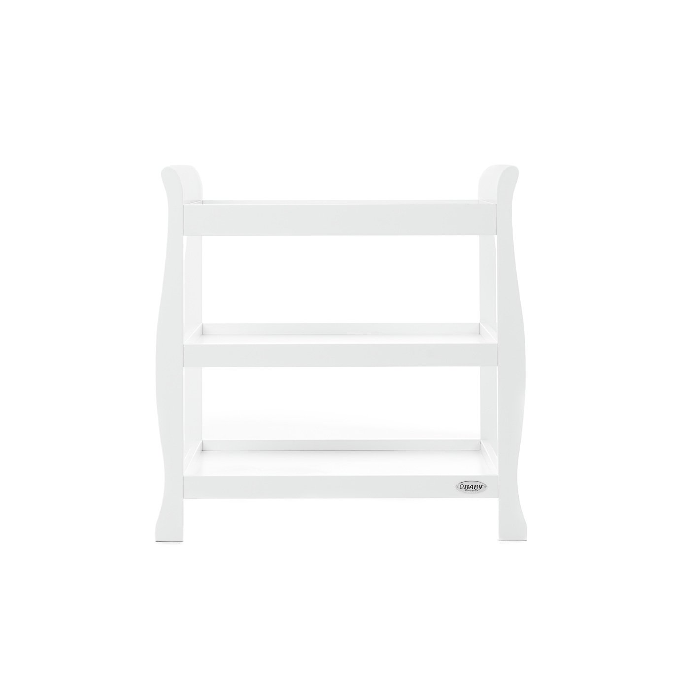 Obaby Stamford Sleigh Open Changing Unit - White